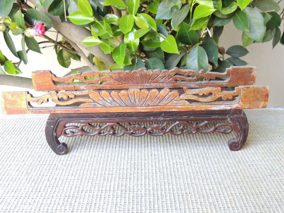 B633P Antique Carved Gold Gilt  Wood Panel