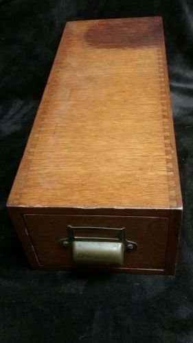 Vintage Wood library  card catalog box. Storage box