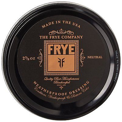 Frye Weatherproof Dressing Leather Conditioning Cream Neutral