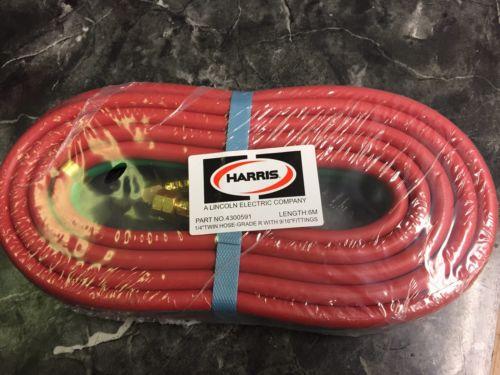 2 Harris 1/4 x 20' Twin Welding Hose Grade R Welding & Cutting Oxygen Acetylene