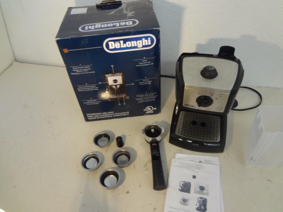 delonghi espresso and cappuccino maker instructions