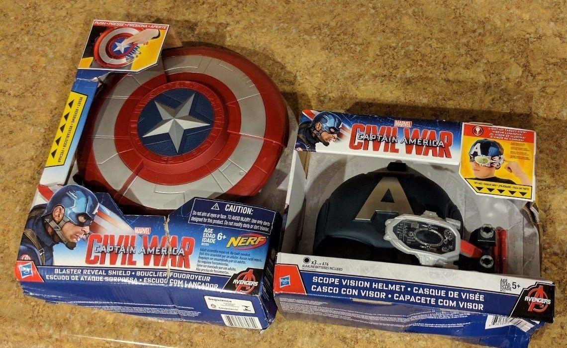 Nerf Captain America Blaster Reveal Shield With Scope Vision Helmet