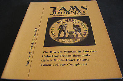 TAMS Token And Medal Society 1982 Unlocking Prison Exonumia, Token Trilogy +++