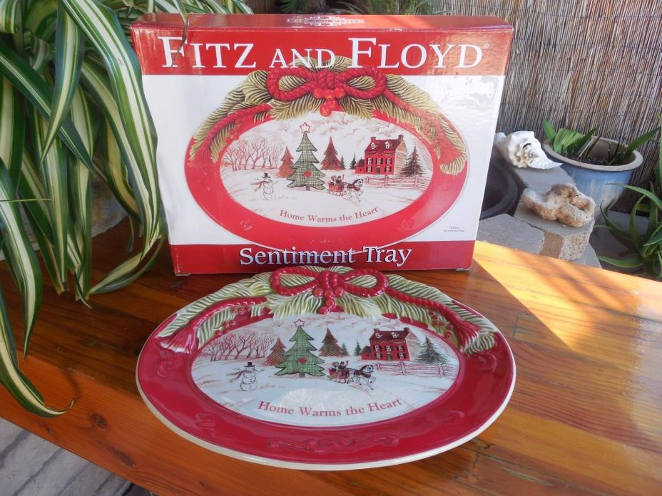 ~Fitz and Floyd Sentiment Tray