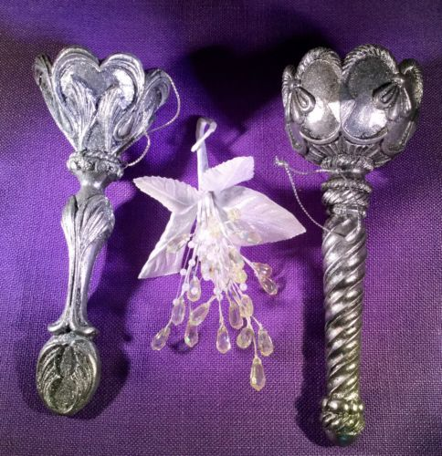 Tussie Mussie Silver Fancy Victorian Wedding Bouquet Posy Holders (2) New