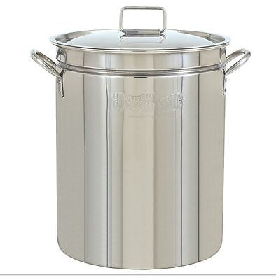 Stock Pot Stainless Steel Lid Commercial Outdoor Cooking Cookware Turkey Fryer