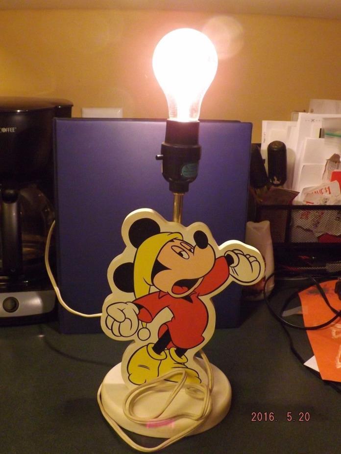 Vintage Disney Mickey Mouse Desk Lamp Light 12