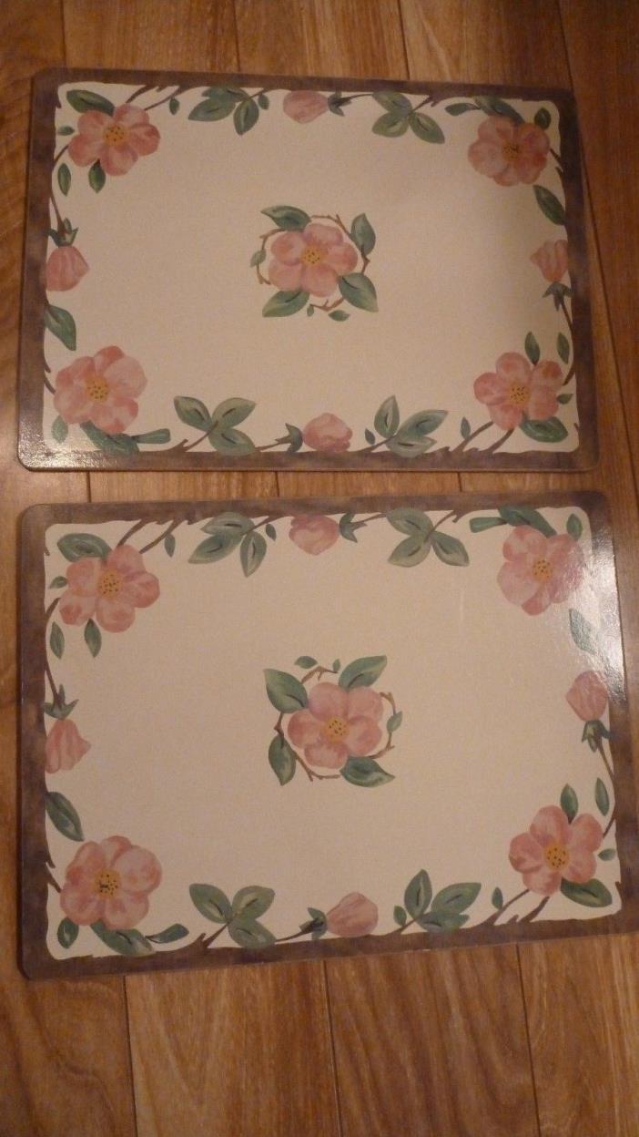 2 Franciscan Desert Rose  Hardboard Placemats Cork Back