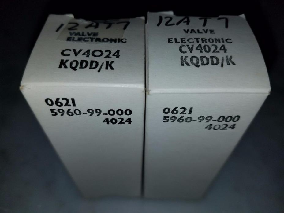 Mullard CV4024 NOS 12AT7 ECC81 NOS Tested Good Vintage Vacuum Preamp Tube Valve