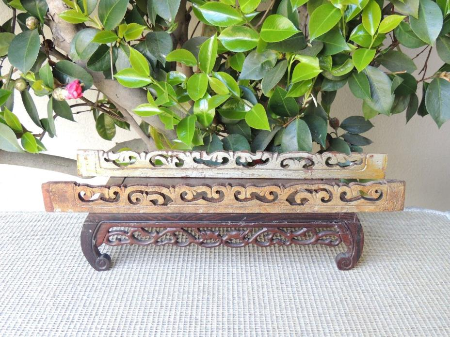 B632P Antique Carved Gold Gilt  Wood Panel
