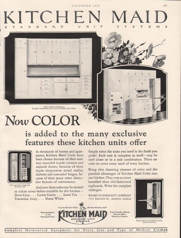 1927 KITCHEN MAID STANDARD UNIT CLOSET CABINET FURNITURE KITCHEN DRAWER -19063