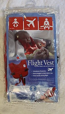 BABY B'AIR Flight Safety Vest Airplane Infant Seat Belt FAA Harness Red Used