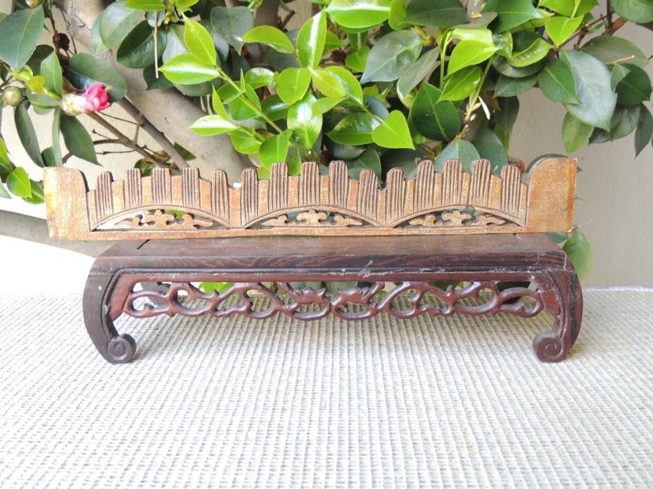 B634 Antique Carved Gold Gilt  Wood Panel