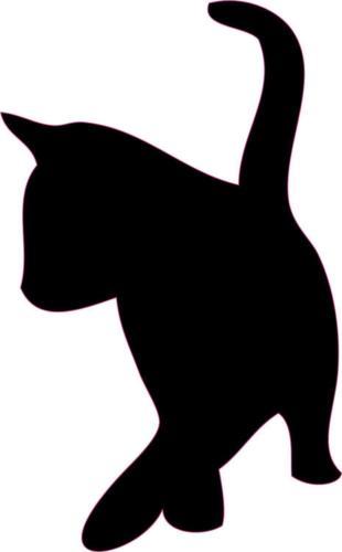 3in x 5in Black Cat Silhouette Bumper Sticker Stickers Vinyl Window Decal Decals