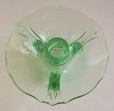 Vintage Vaseline Glass Candle Holder