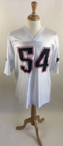 Men's NFL New England Patriots White Tedy Bruschi Jersey 54 XXL