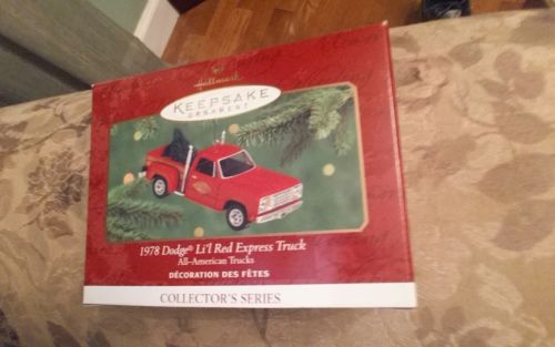 Hallmark keepsake 1978 dodge lil red express truck 2000