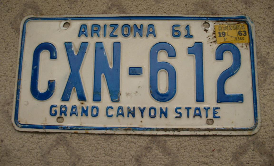 1961 License Plates For Sale Classifieds
