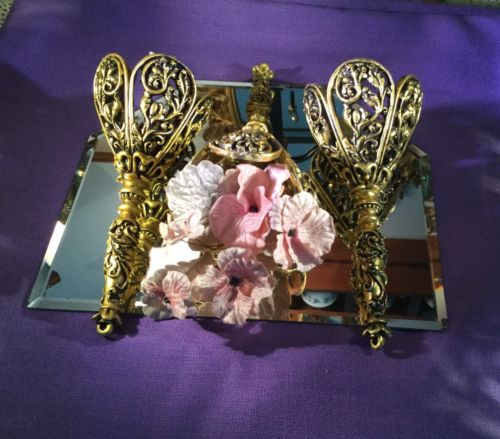 Tussie Mussie Gold Color Victorian Wedding Bouquet Posy Holders (3) New