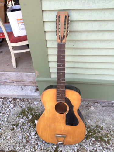 Vintage 12 String Acoustic Guitar Unknown Make