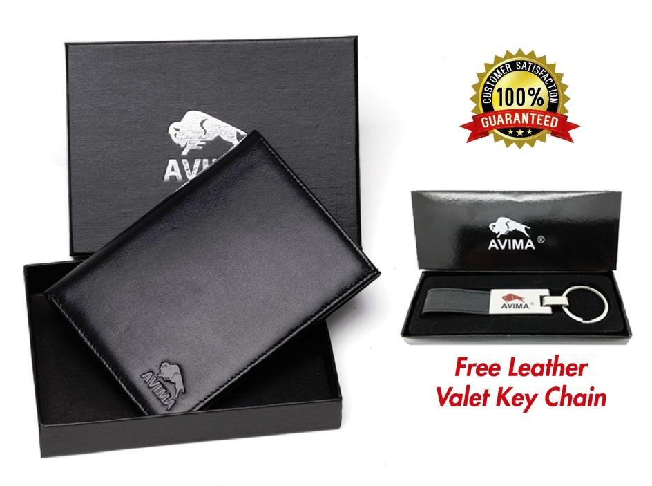 AVIMA BEST Genuine Leather Passport Holder Travel Wallet - for Men & Women