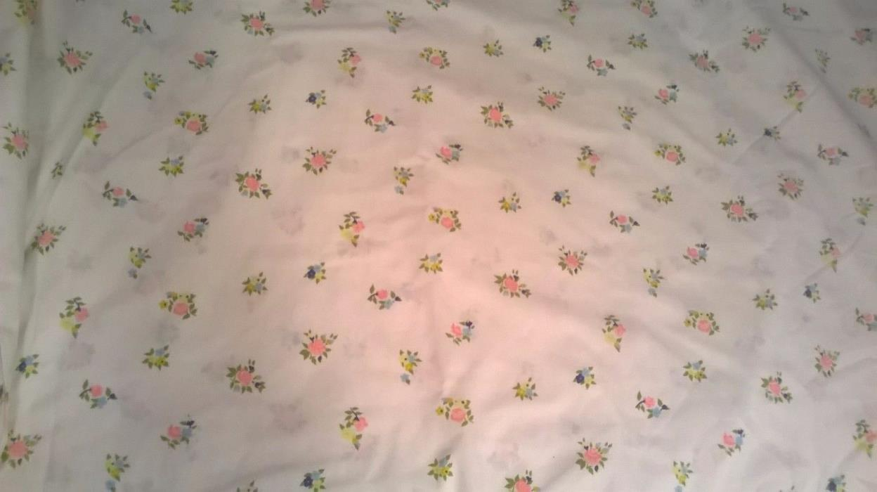 Vintage Flower Cannon royal family queen fitted Sheet green pink blue