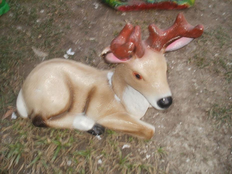 concrete cement plaster mold latex and fiberglas backup DEER MOLD