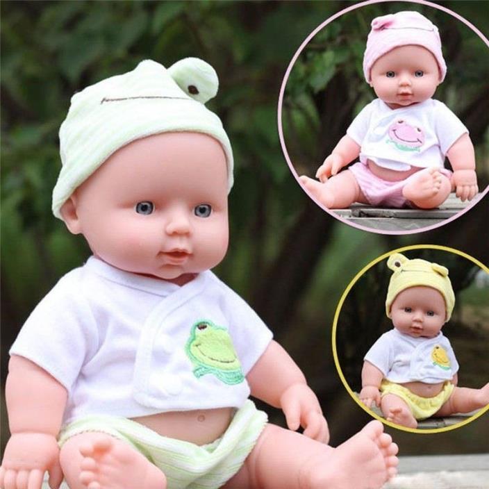 12inches Reborn Baby Doll Soft Vinyl Silicone Lifelike Newborn Baby