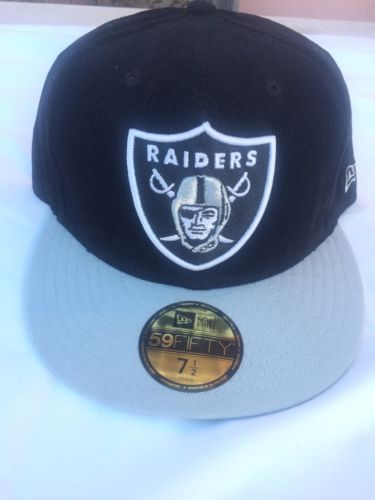 OAKLAND RAIDERS HAT RAIDERS FITTED CAP OAKLAND RAIDERS CORDUROY HAT AL DAVIS