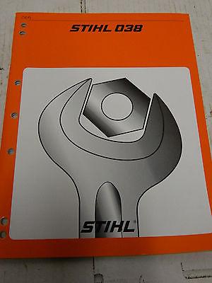 STIHL 038 Chainsaw Shop Repair Service Manual Book Magnum