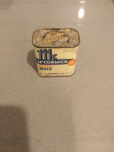 Vintage McCormick Ground Mace Spice Tin