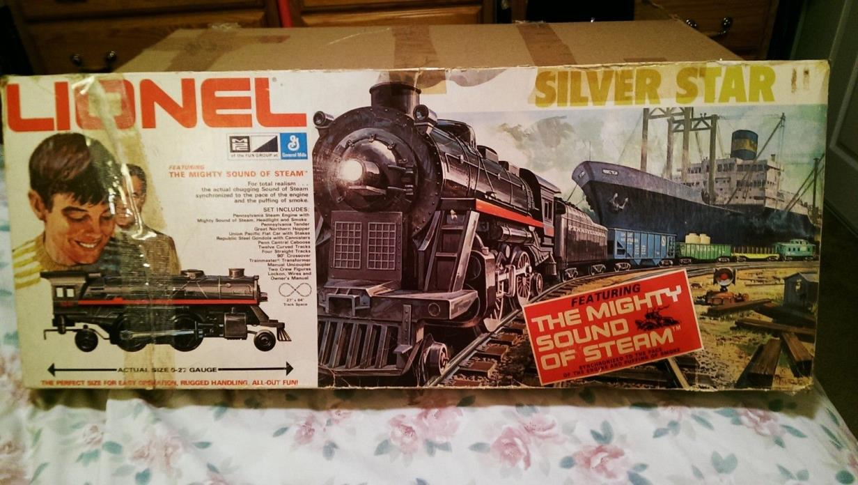1971 Silver Star Lionel train set