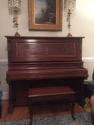 Schubert Antique Upright Mahogany Piano For Sale Classifieds