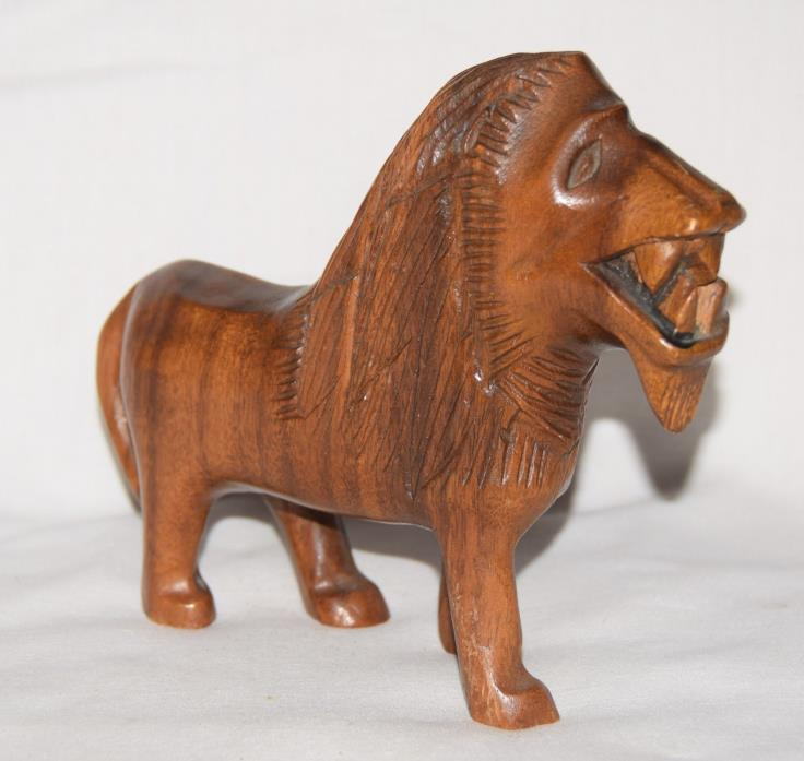 Philippines Hand Carved Wooden Lion