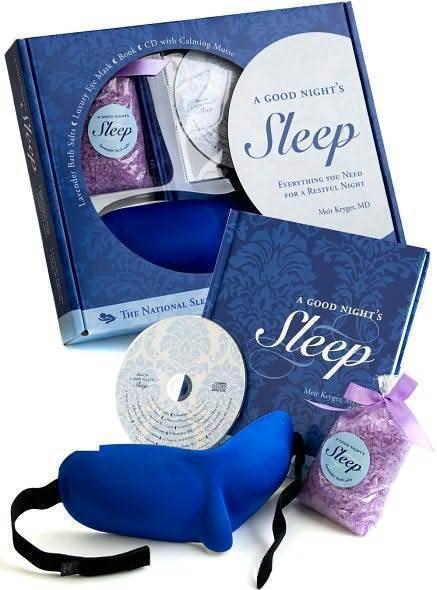 Lavender Bath Salts Eye Mask Book CD