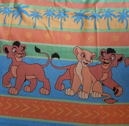 Disney Vintage Lion King  Kovu Kiara Twin Size Flat Sheet Fabric