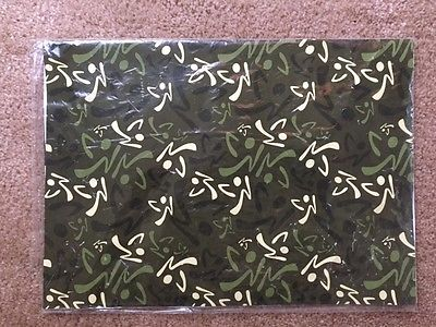 RARE Vintage Zumba Camo wrapping paper