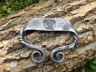 Blacksmith Forged Striker Flint Steel Twisted Classic C bushcraft  firemaking