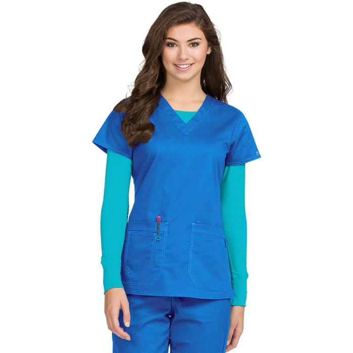 MC2 by Med Couture Women's X-Large Olivia V-Neck Scrub Top Item #: PE-8475 Royal
