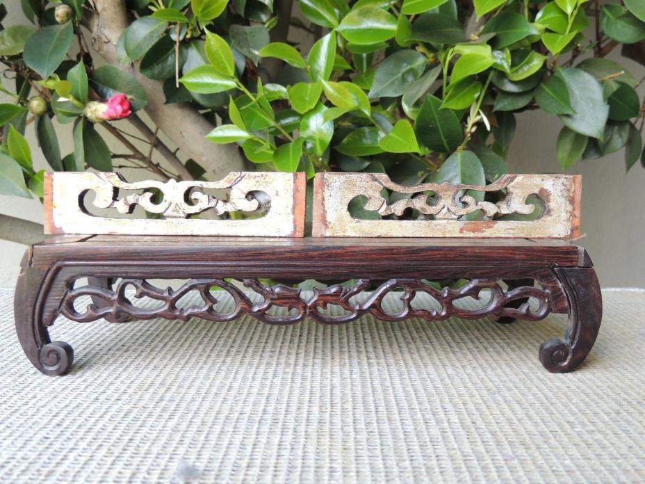 B628P Antique Carved Gold Gilt  Wood Panel