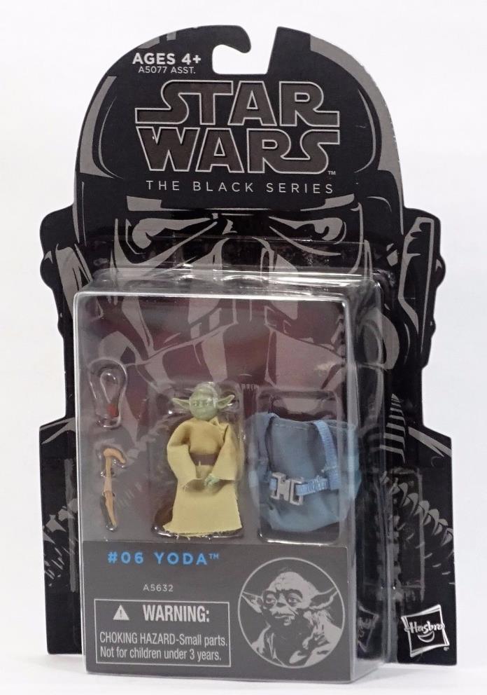 Yoda Star Wars Empire Strikes Back Black Series #6 New MOC Mint On Card!