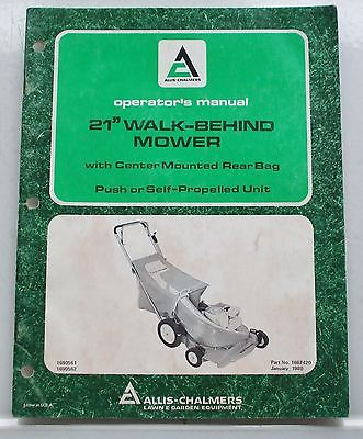 2 Allis Chalmers Mower and Rotary Tiller Operator's Manual 1975 1980