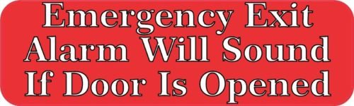 10? x 3? Emergency Exit Alarm Business Decal Store Sign Decals Sticker Stickers