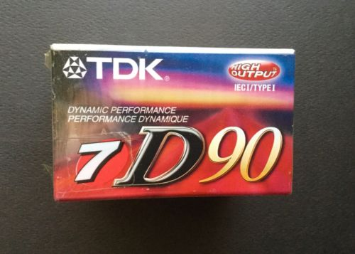 Lot Of 5 TDK D90 High Output IECI/TYPE I Blank Audio Cassette Tapes Brand New