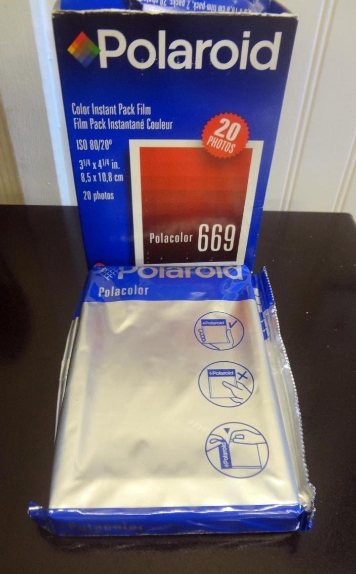 Polaroid Polacolor 669 instant pack film one pack Date is 07/00
