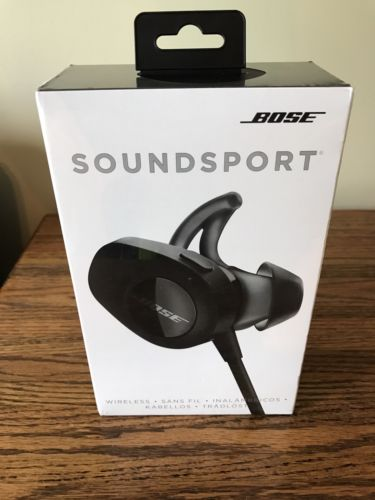 BOSE SOUNDSPORT BLUETOOTH WIRELESS HEADPHONES BLACK ( NEW )