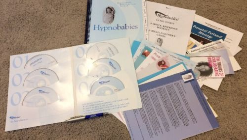 Hypnobabies Home Study Course Complete 6th Ed 6 CDs Bonus Hypnobirthing UNMARKED