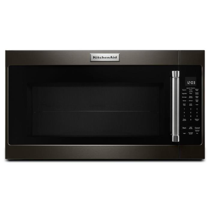 KitchenAid 30in. 2.0 cu. ft. Over the Range Microwave Black Stainless Sensor 262