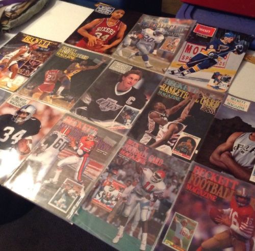 Vintage Beckett Sport Cards Guide Huge Lot 1980s-90s Bo Jackson Gretzky Magic
