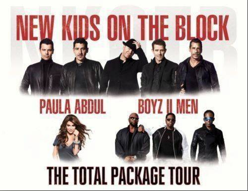2 Tickets New Kids On The Block Paula Abdul & Boyz II Men 5/31 Fresno  freeship